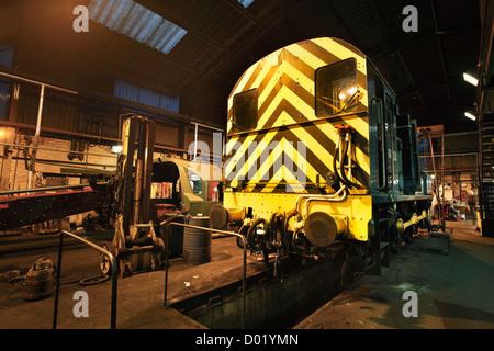 Diesal Shunt engine at Grosmont, North Yorkshire, NYMR - Stock Photo