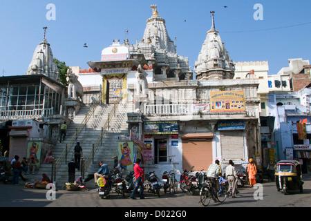 Jagdish Temple Udaipur Rajasthan India - Stock Photo