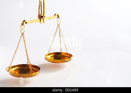 sclaes with copyspace showing law justice or court concept - Stock Photo