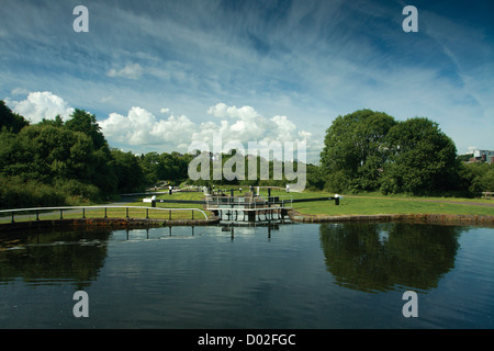 Forth & Clyde Canal, Glasgow Stock Photo, Royalty Free ...: http://www.alamy.com/stock-photo-forth-clyde-canal-glasgow-137268873.html