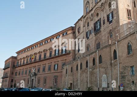 Palermo old city. Sicily Italy August 2012,Palazzo dei Normanni   sede Regione  Sicila - Stock Photo