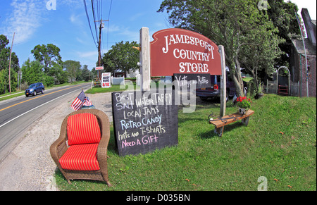 An antique and country store on the north fork of eastern Long Island New York - Stock Photo