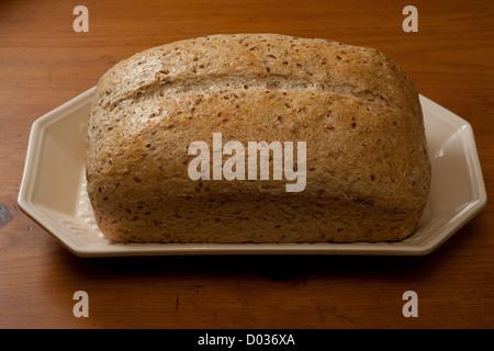 Freshly Baked Whole Grain Bread - Stock Photo