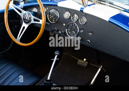 1965 Ford Shelby 427 Cobra interior detail - Stock Photo