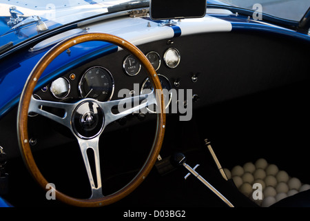 1965 Ford Shelby 427 Cobra interior - Stock Photo