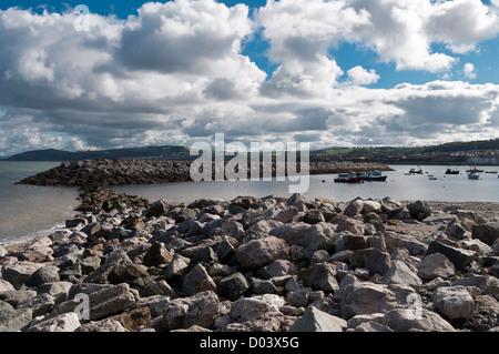 Rhos On Sea North Wales looking towards Colwyn Bay - Stock Photo