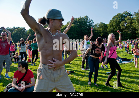 The Big Dance Carnival in Crystal Palace Park South London is part of  national  campaign to encourage people to - Stock Photo