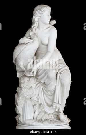 Classical Greek statue of a muse found at Achilleion palace of Corfu island in Greece - Stock Photo