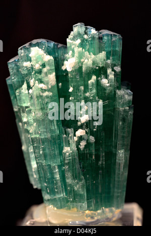 Crystals of green tourmaline. - Stock Photo