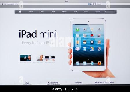 Apple store website - iPad Mini - Stock Photo