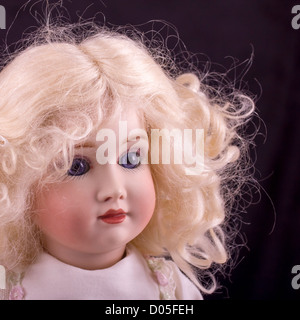 Porcelain doll close up - Stock Photo