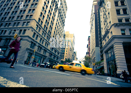 October 26, 2012 - New York City:  Intersection along 5th Ave in midtown Manhattan on Oct. 26, 2012. - Stock Photo