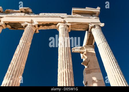 The Parthenon is a temple on the Athenian Acropolis, Greece - Stock Photo