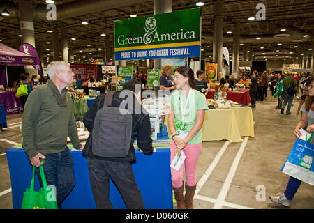 Los Angeles, California, USA. 17th November 2012. The Los Angeles Green Festival was held on November 17, 2012 at - Stock Photo