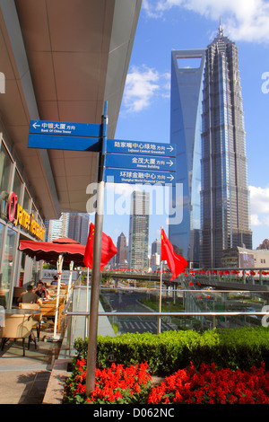 Arrows And Directions On A Road In Shanghai China Stock Photo Royalty Free Image 4166127 Alamy