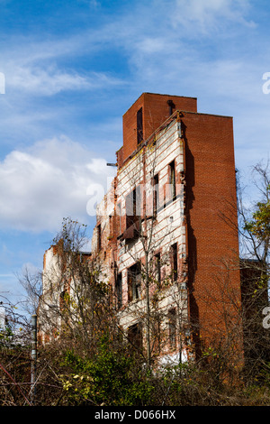 ... Ruins Of Old Furniture Factory In Lexington NC   Stock Photo