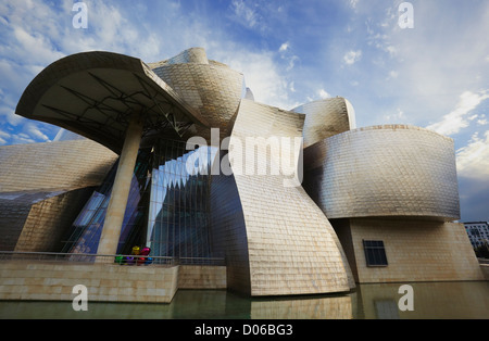 Guggenheim Museum Bilbao, Biscay, Basque Country, Spain - Stock Photo