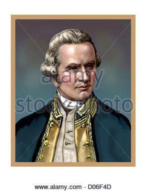 James Cook 1728 1779 English Navigator Portrait - Stock Photo