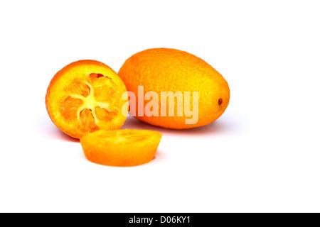 Kumquats, sliced. - Stock Photo