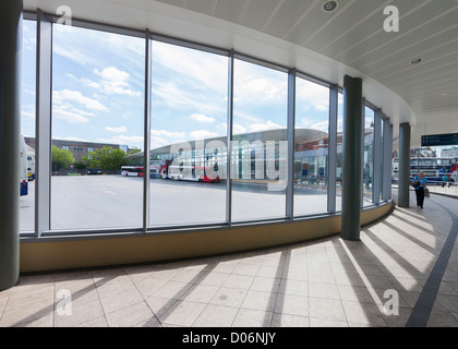 Wolverhampton Interchange Bus Station, West Midlands - Stock Photo