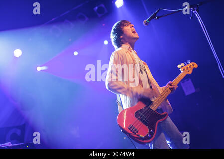 Zagreb, Croatia. 18th November 2012. Gary Jarman of the Wakefield indie-rock band The Cribs shown while performing - Stock Photo
