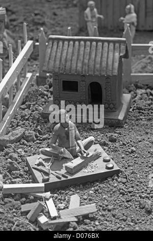 Miniature Statue of a Carpenter - Stock Photo