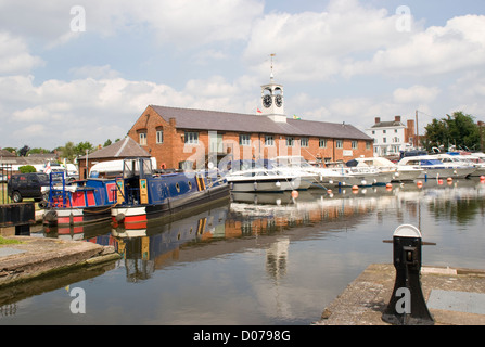Canal Basin with boats Stourport on Severn Worcestershire England UK - Stock Photo