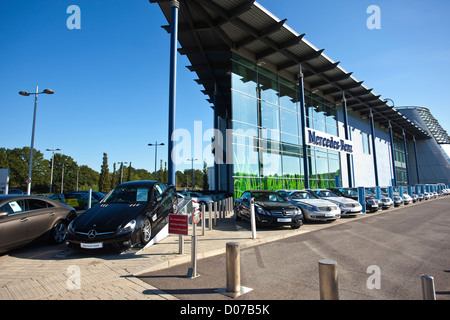 Mercedes-Benz World, Brooklands, Weybridge, Surrey, England, UK - Stock Photo