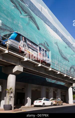 Wyland mural on SE 1st Street,Miami, Florida, USA - Stock Photo