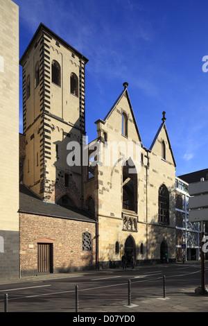 Kirchenruine Alt St. Alban in der Altstadt von Koeln, Nordrhein-Westfalen - Stock Photo