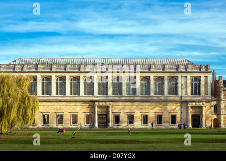 Wren library, Trinity college, university of Cambridge, England. - Stock Photo