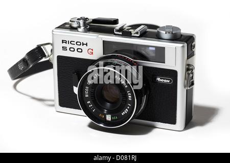 ricoh 500g retro film camera 35mm classic stock photo
