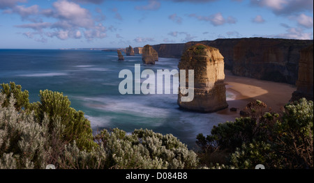 The famous Twelve Apostles on Victoria's Great Ocean Road Australia - Stock Photo