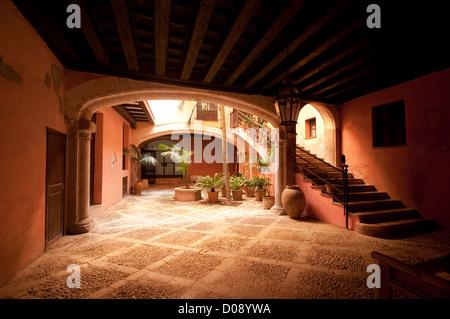 Palma de Mallorca Majorca Baleares Balearic Spain 'patio' typical traditional courtyard - Stock Photo