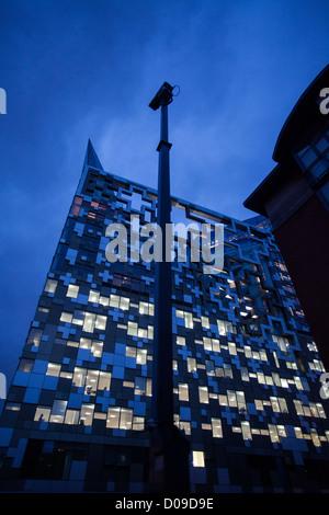 The Cube building in Birmingham, UK - Stock Photo