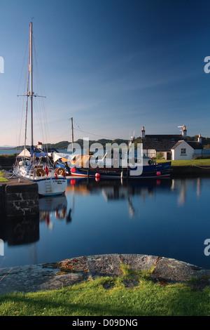 The Crinan Canal at Crinan Basin, Argyll & Bute - Stock Photo