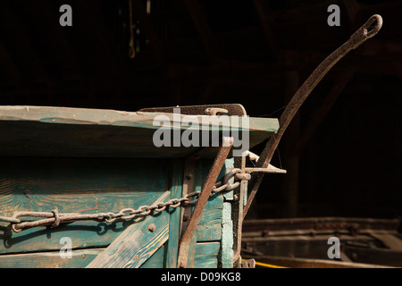 Detail of old buckboard wagon at South Yuba River State Park, California - Stock Photo