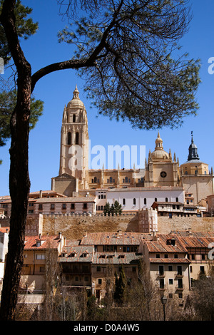 Historical Center and Cathedral of Segovia Castilla Leon Spain Centro histórico y Catedral de Segovia Castilla Leon - Stock Photo