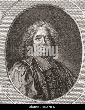 René Pucelle, 1655 -1745. French magistrate and abbot of Saint Leonard Corbigny. - Stock Photo