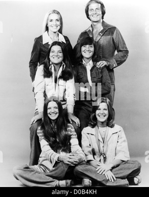 PAT BOONE with wife Shirley and daughters about 1970 - Stock Photo