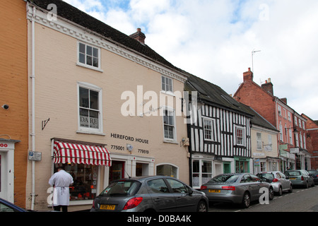 Traditional butcher's shop, High Street, Droitwich - Stock Photo