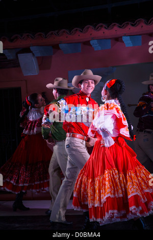 Mexican Traditional Folk, Dancing, Puerto Vallarta, Jalisco, Mexico - Stock Photo