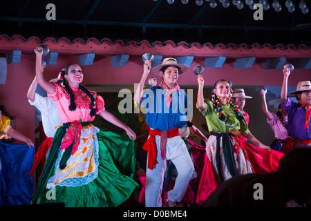 Mexican Traditional Folk, Dancing, Puerto Vallarta, Jalisco, Mexico - Stock Photo