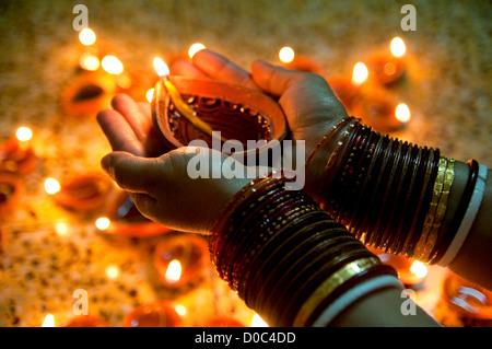 Diwali lamp - Stock Photo