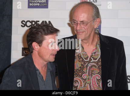 Michael J. Fox and Christopher Lloyd Spike TV's 'Scream 2010 Awards' at the Greek Theater - Arrivals Los Angeles, - Stock Photo