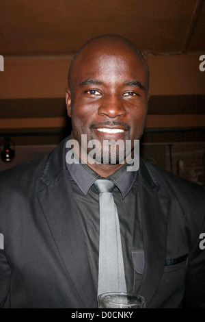 Mike Colter Opening night after party for the Off-Broadway production of 'Wings' held at HB Burger. New York City, - Stock Photo