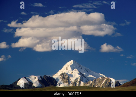 Nevado Huayna Potosi Rises Above the Bolivian Altiplano - Stock Photo