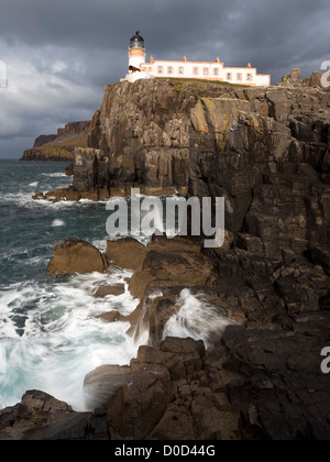 Neist Point Lighthouse situated on the most westerly point of the Isle of Skye, Scotland, UK. Designed by David - Stock Photo