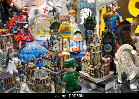 Prague, Czech Republic. Souvenir shop window - Stock Photo