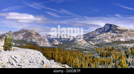 The view from Olmsted Point - Yosemite National Park, California USA. This is a high resolution image. - Stock Photo